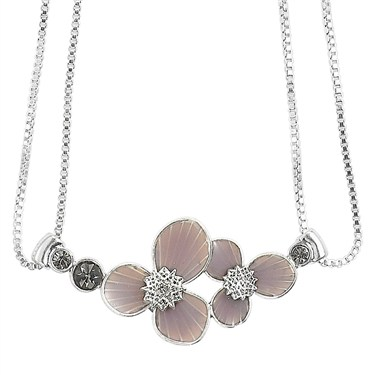 PILGRIM Purple Star Flower Link Necklace