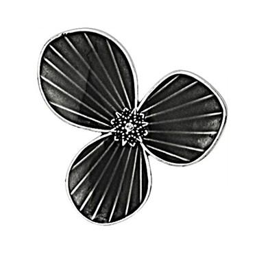 Pilgrim Grey Star Flower Ring