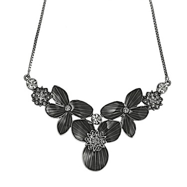 PILGRIM Grey Star Flower Necklace