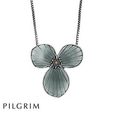 PILGRIM Blue Star Flower Necklace