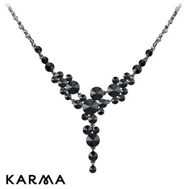 Karma Black Cascading Necklace