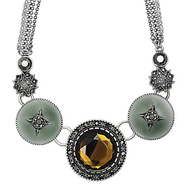 PILGRIM Brown Bohemia Cascade Necklace