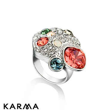 Karma Multi Crystal Cluster Ring