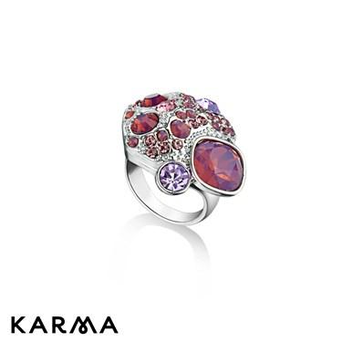 Karma Pink Crystal Cluster Ring