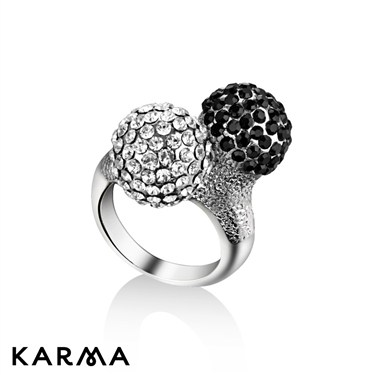 Karma Black Double Dome Ring