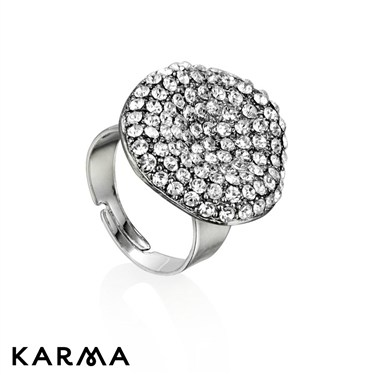 Karma Diamanté Crystal Ring