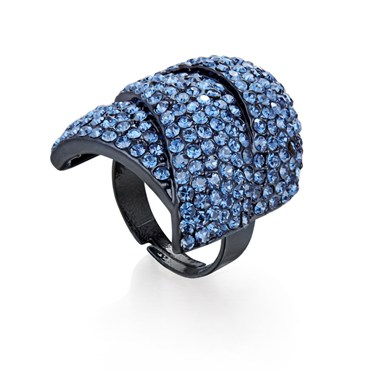 Karma Blue Diamanté Wrap Ring