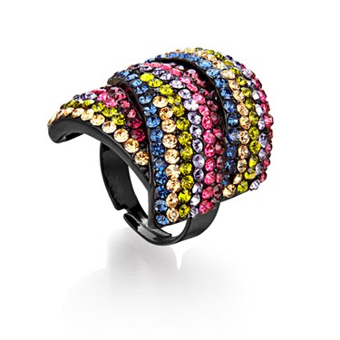 Karma Multi Diamanté Wrap Ring