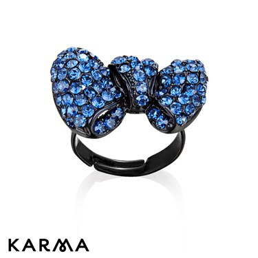 Karma Navy Bow Ring