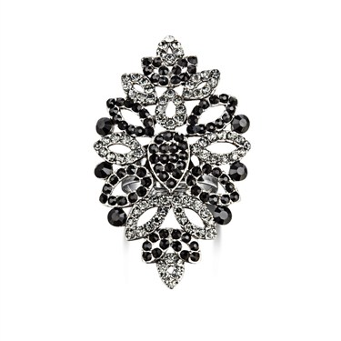 Karma Black Statement Crystal Ring