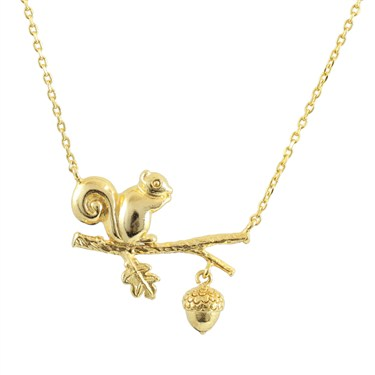 Karma Gold Squirrel Necklace