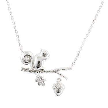 Karma Silver Squirrel Necklace