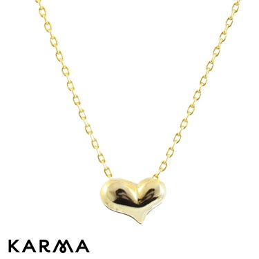 Karma Gold Single Heart Necklace