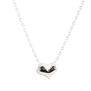 Karma Silver Single Heart Necklace