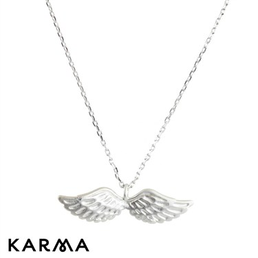 Karma Silver Wings Necklace