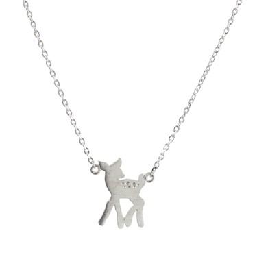 Karma Silver Bambi Necklace