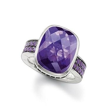 Thomas Sabo Large Purple CZ Ring