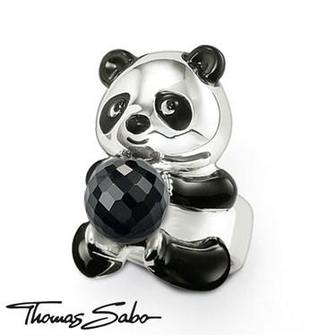 Thomas Sabo Panda with Obsidian Ball Ring