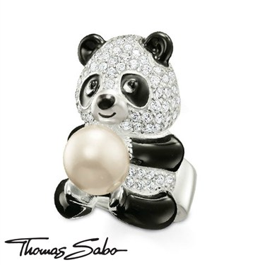 Thomas Sabo Panda Ring With Pearl