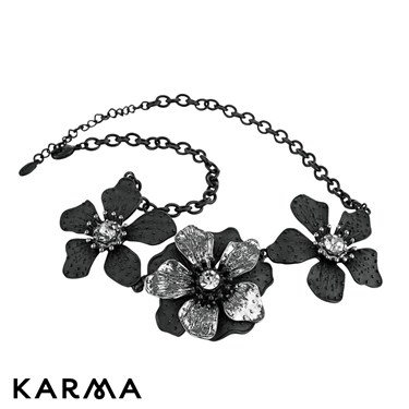 Karma Floral Link Necklace