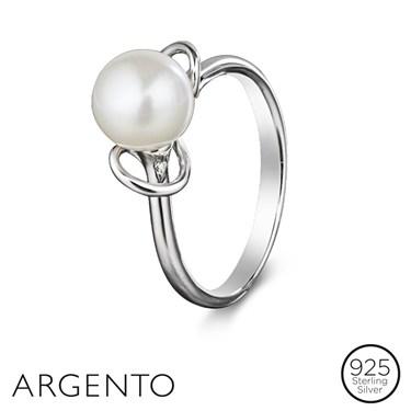Argento Loop Pearl Ring