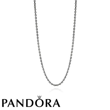 Pandora Black Rhodium Silver Necklace
