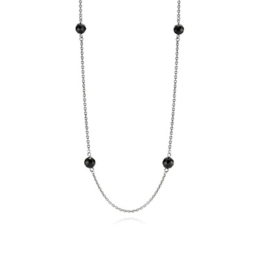Pandora Oxidised Silver Station Necklace