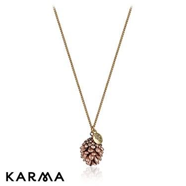 Karma Rose Gold Pine Cone Necklace