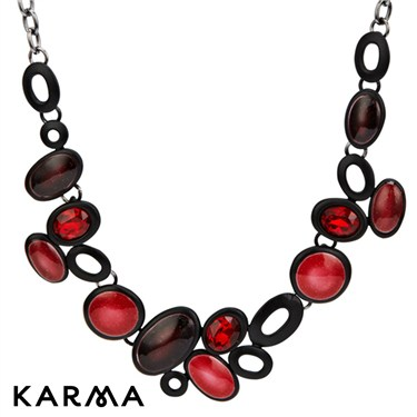 Karma Cluster Oval Glass Necklace