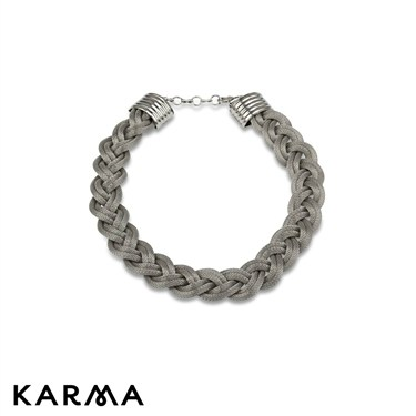 Karma Metallic Plaited Necklace