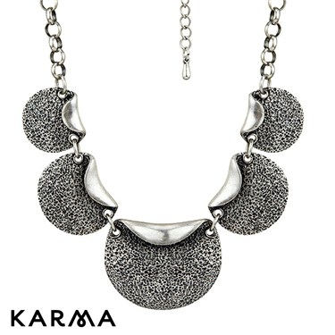 Karma Folded Discs Necklace