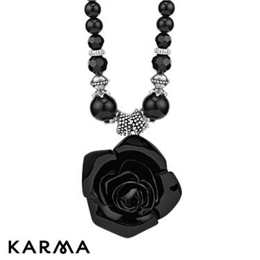 Karma Black Rose Necklace