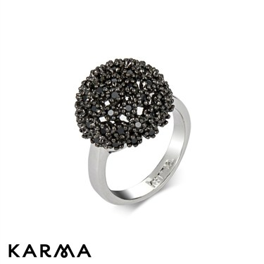 Karma Crystal Orb Ring