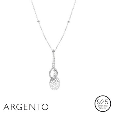 Argento Silver Drop Pendants Necklace