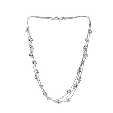 Argento Multi Strand Ball Necklace
