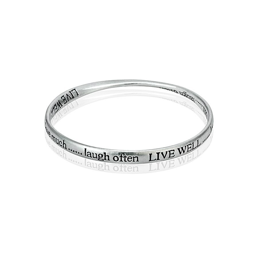 of heart and bangles thin set img charms silver bracelets with letters argentium handstamped bangle