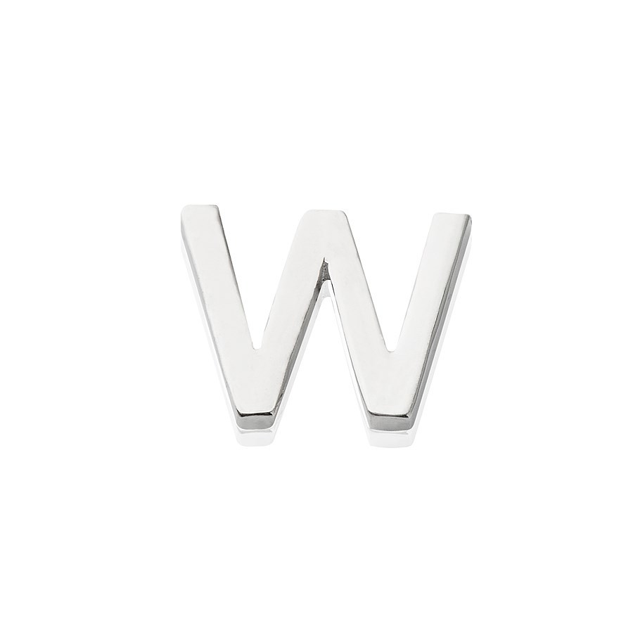 Storie Silver Letter W Charm 1