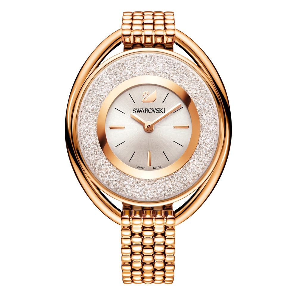 Swarovski Crystalline Oval Rose Gold Watch 1
