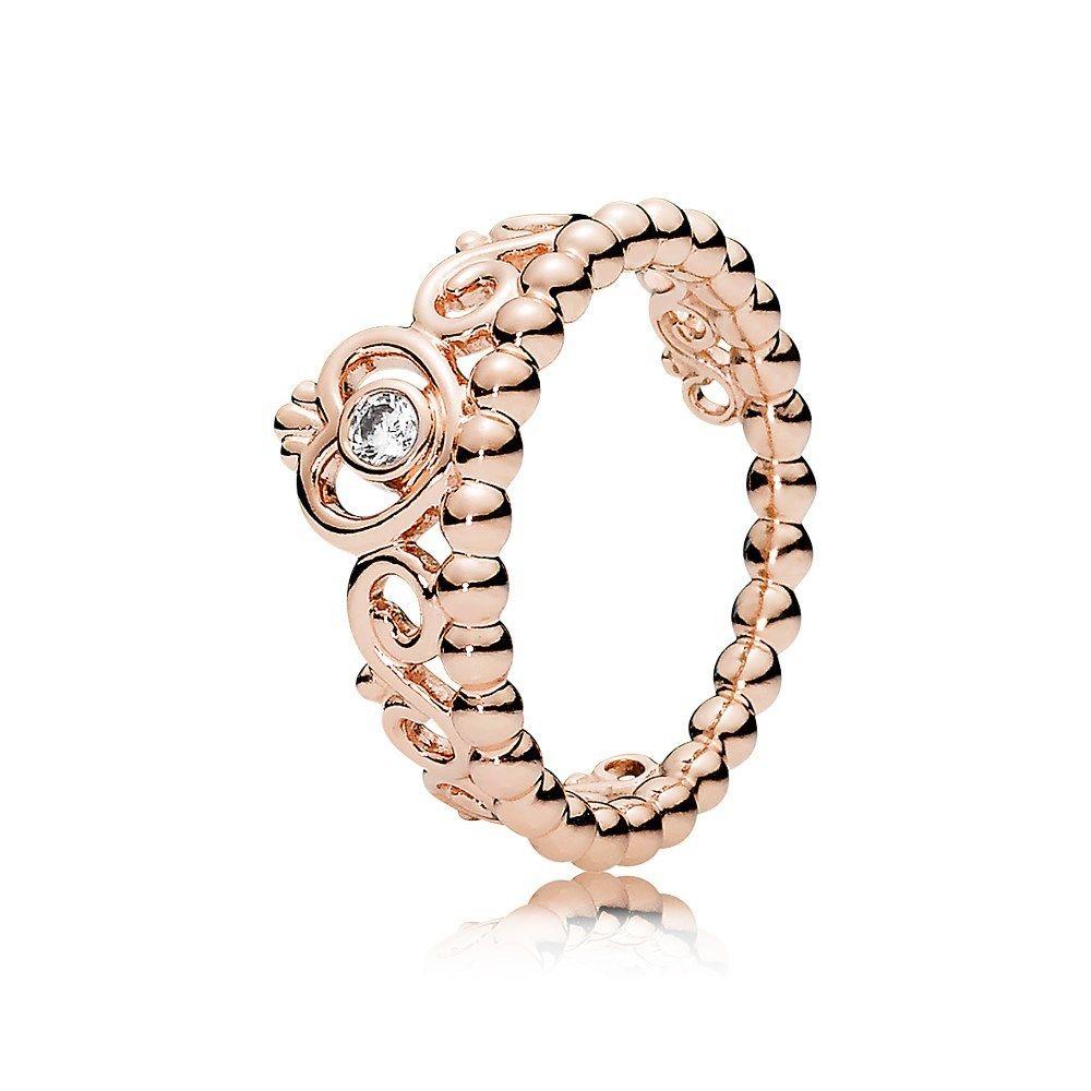 pandora rose gold ring argento