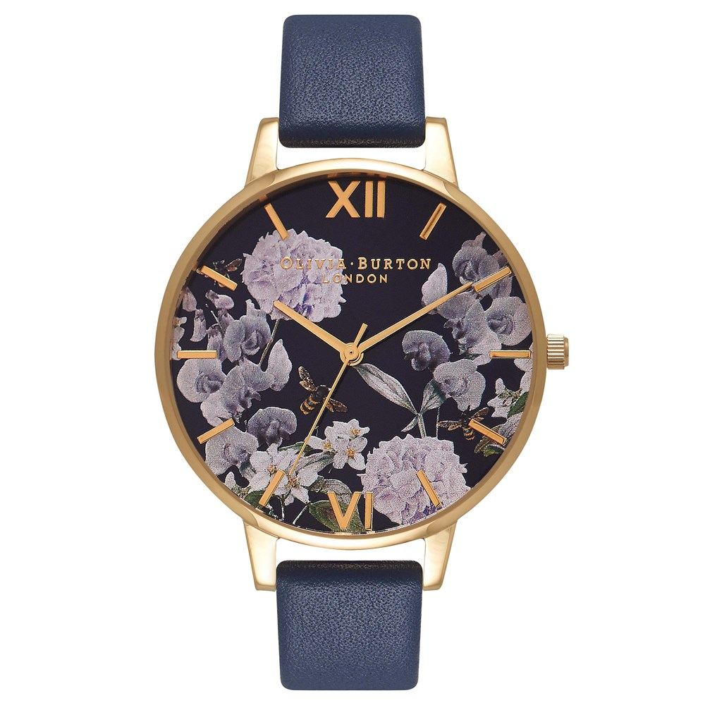297dd42103a7 Olivia Burton Enchanted Garden Navy Watch - Click to view larger image