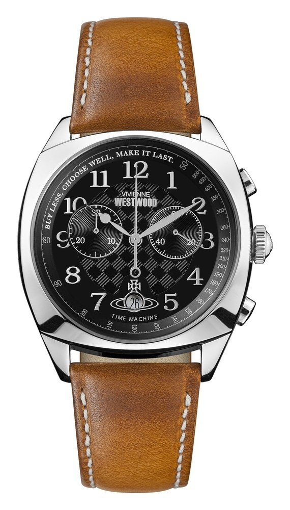 Vivienne Westwood Silver and Tan Hampstead Watch 1