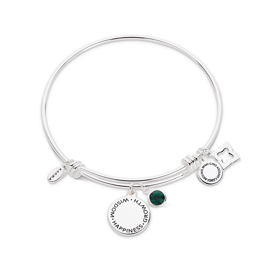 Karma May Birthstone Bangle  1