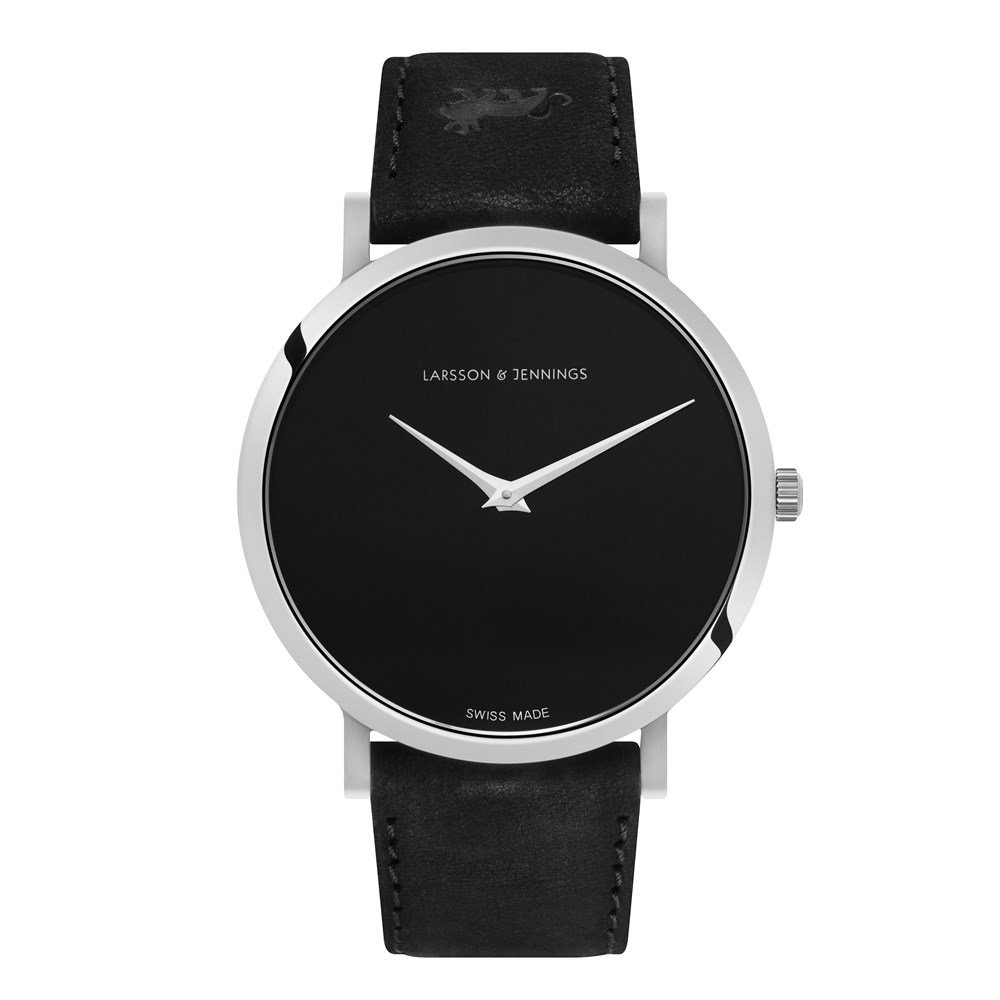 Larsson & Jennings Lugano Jette 40mm Black & Silver Watch - Click to view  larger image