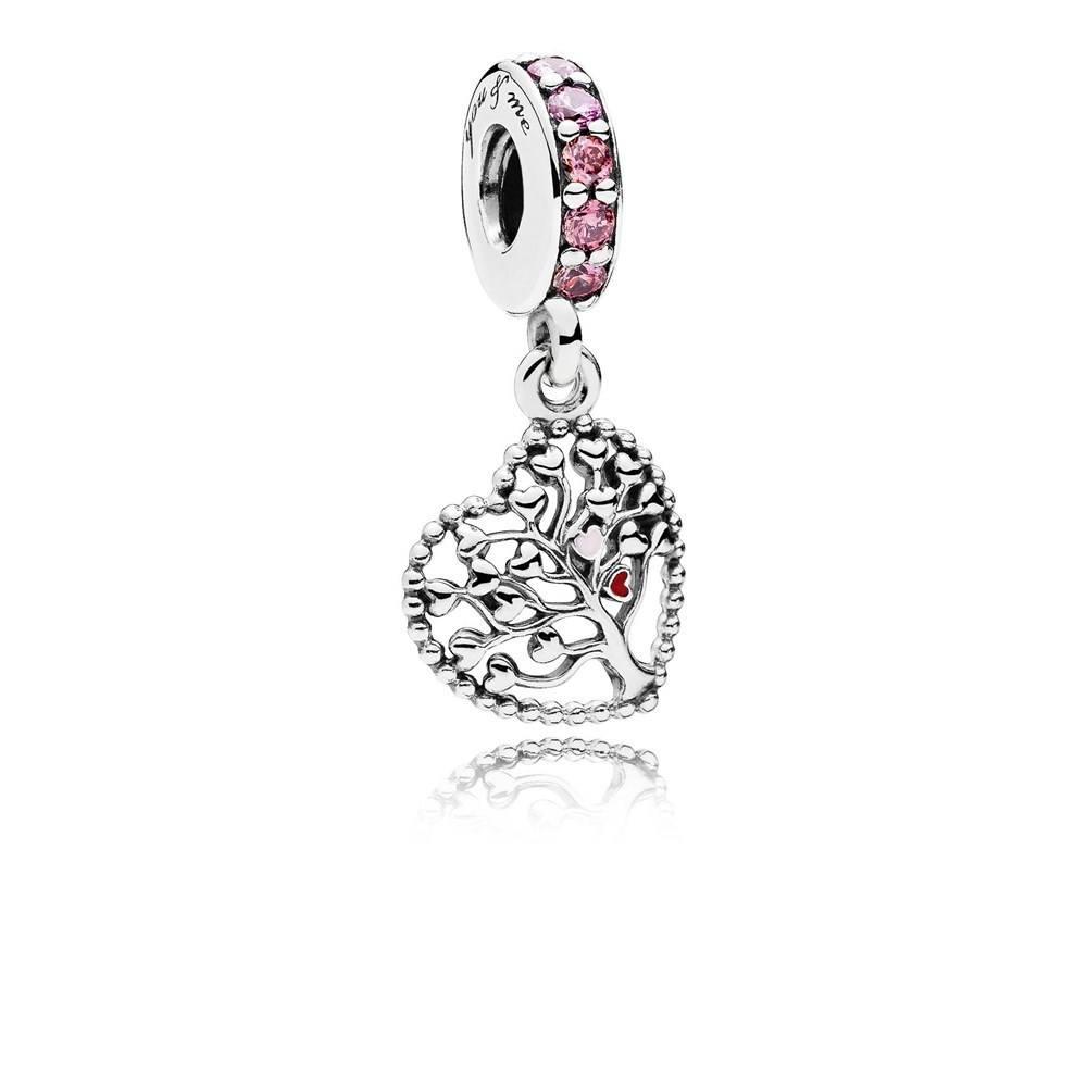 pandora tree of love pendant charm argento com