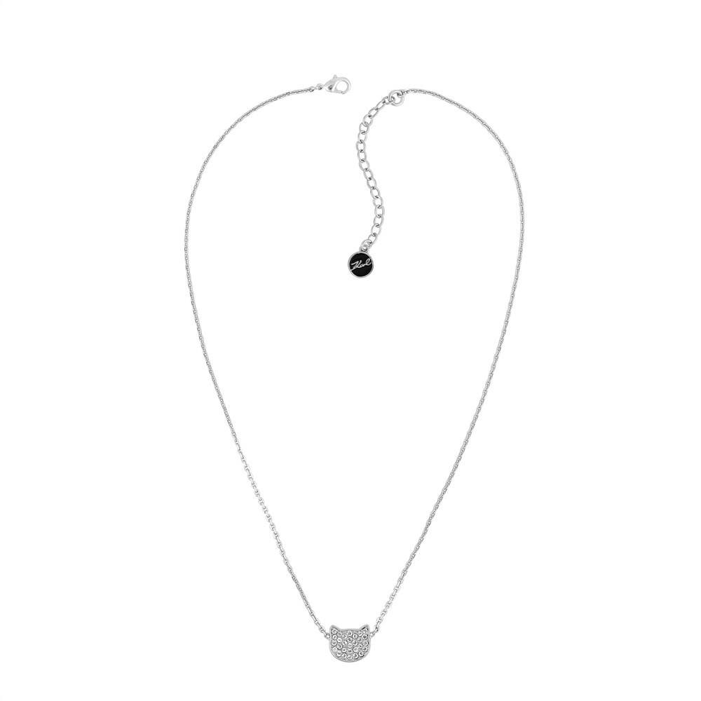 Karl Lagerfeld Silver Choupette Necklace 1