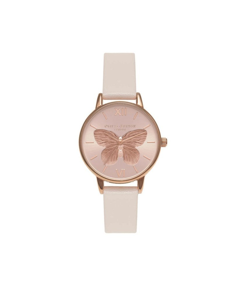 Olivia Burton 3D Butterfly Blush & Rose Gold Watch 1