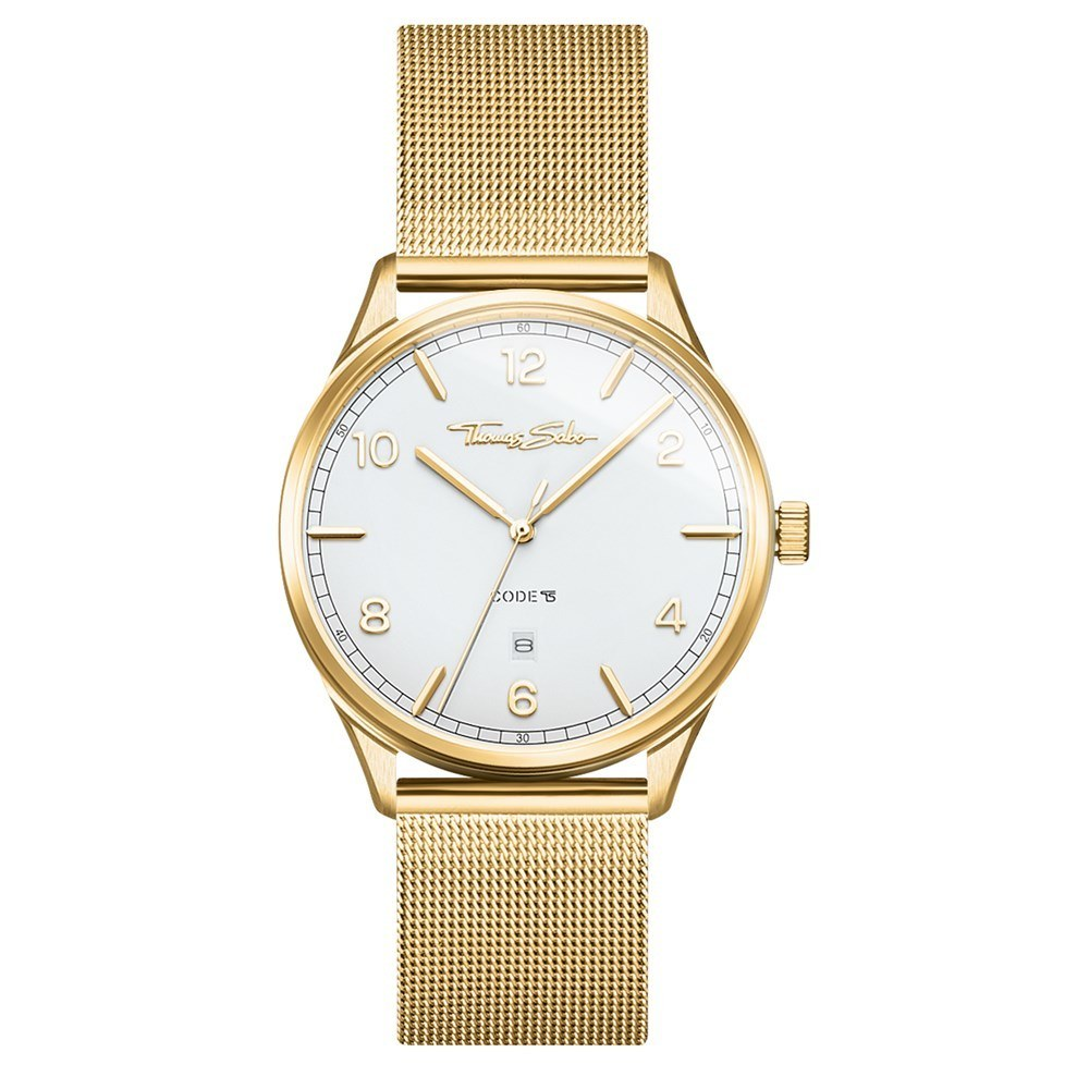 Thomas Sabo Code White Dial Gold Watch 1