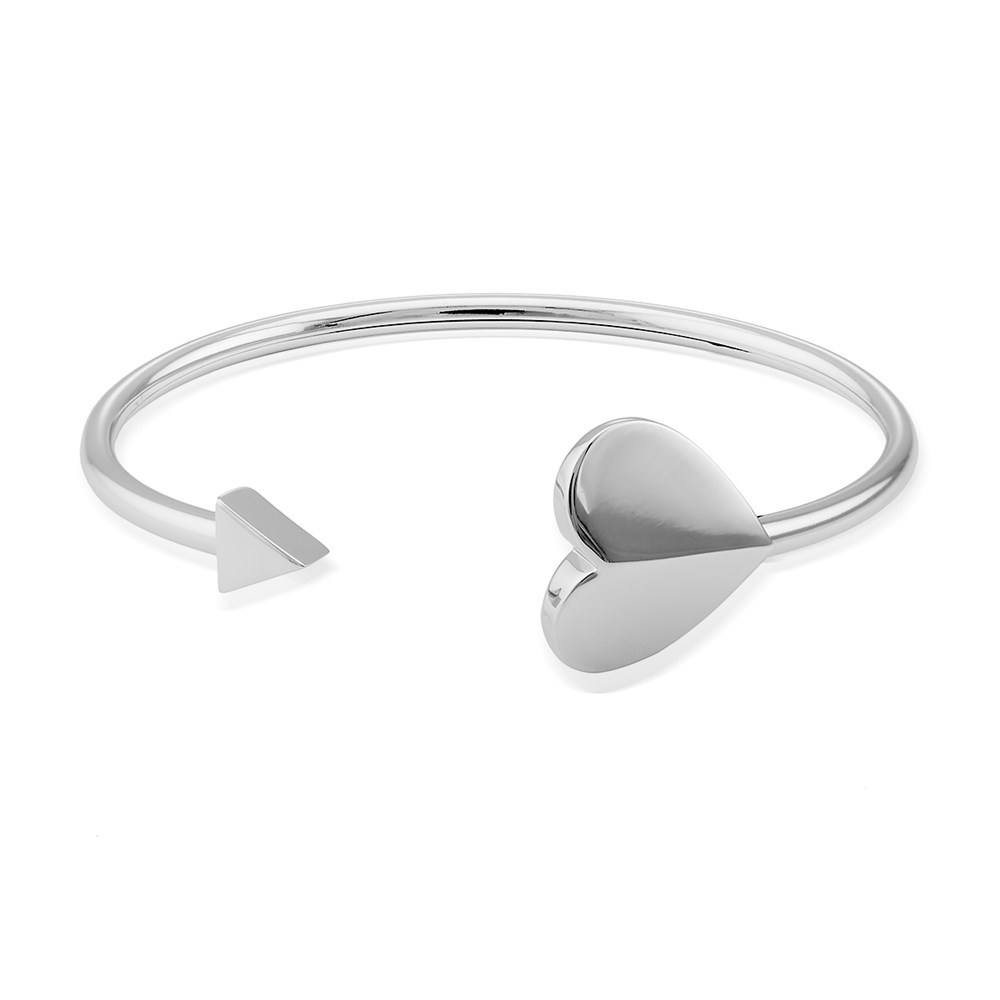 Kate Spade New York Silver Heart Cuff Bangle  1