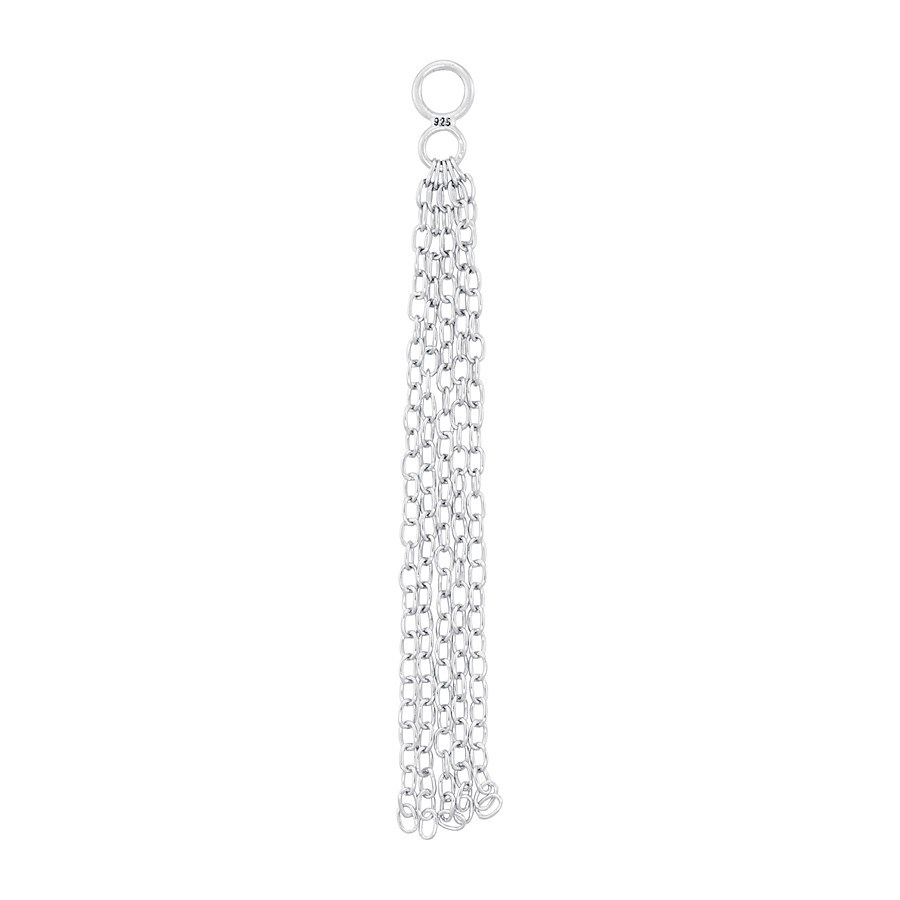 Storie Silver Chain Pendant Charm  1