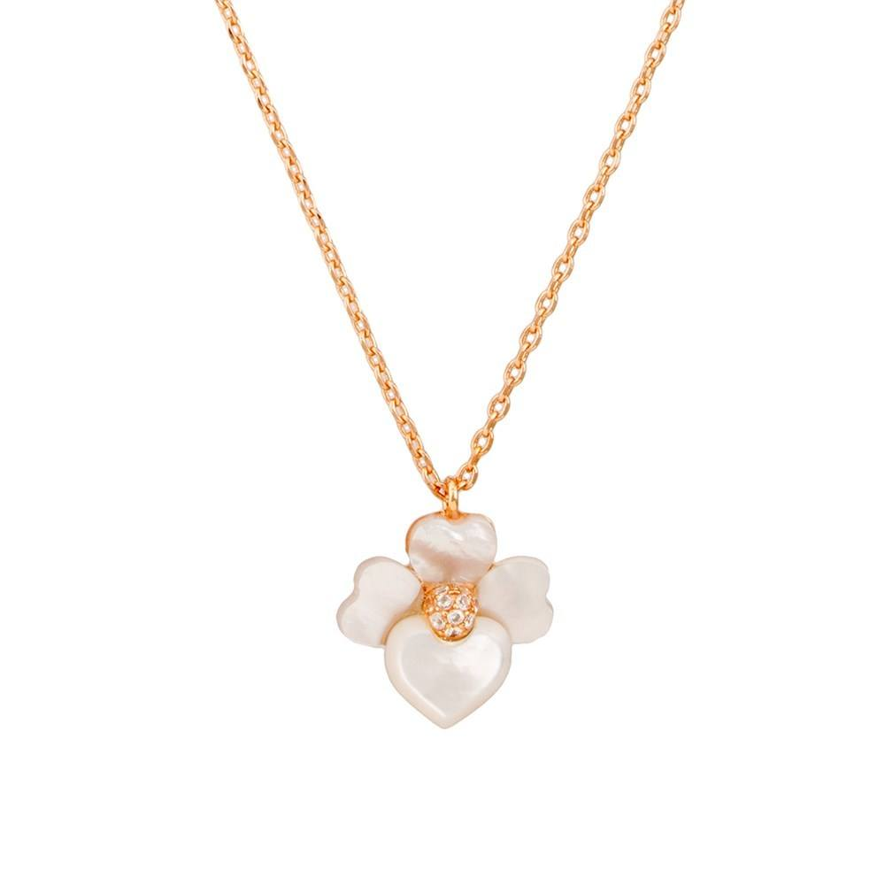 Kate Spade New York Rose Gold Cream Orchid Necklace 1